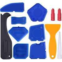 12 Pcs Door Silicone Sealant Spreader Spatula Scraper Cement Caulk Removal Tool DIY Window Finishing Sealant caulking tool kit