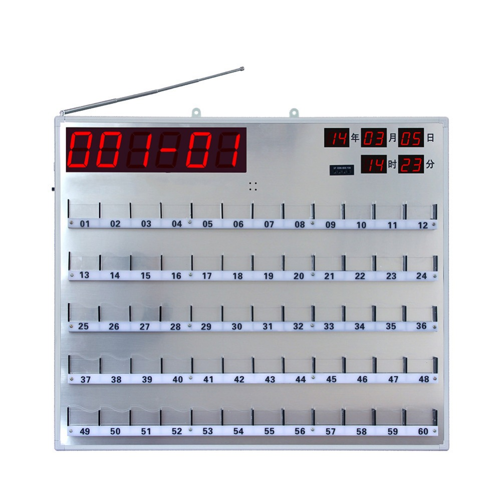 SINGCALL wireless nurse call system Hospital board receiver Panel Display Equipped with remote controller,with 60 lights wireless pager system 433 92mhz wireless restaurant table buzzer with monitor and watch receiver 3 display 42 call button