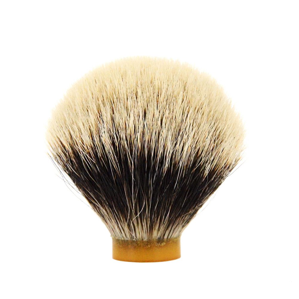 купить ZY Pure Finest SILVERTIP Badger Hair Shaving Brush Knot For Men Barber Shave Beard DIY Soap Brush по цене 1223.96 рублей