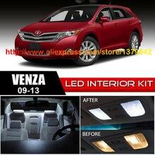 Free Shipping 14Pcs/Lot 12v Xenon White/Blue Package Kit LED Interior Lights For 09-13 Toyota Venza