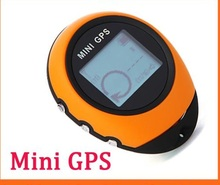Portable Mini Handheld GPS Navigation Location Finder For Outdoor Sport Travel Yellow Free shipping