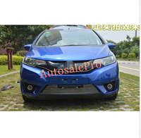 Steel Front Mounth Bottom Grill Grid Grid Grille Cover Trim For Honda FIT Jazz 2014 2015