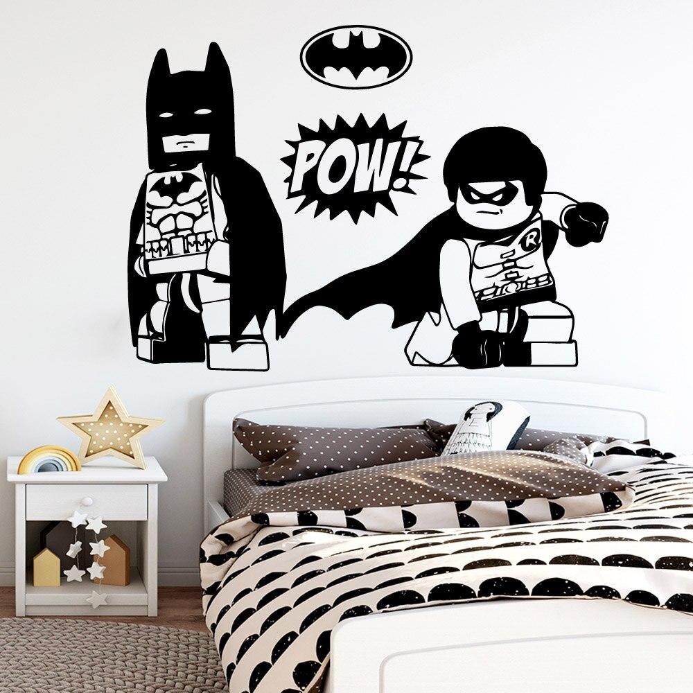 Hot Lego Batman Superman Wall Stickers Vinyl Decor For Kids ...