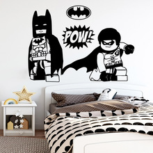 Hot Lego Batman Superman Wall Stickers Vinyl Decor For Kids Room Decals Sticker Bedroom Decoration Art