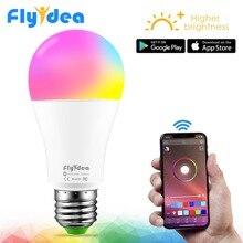 Умный светодиодный Беспроводной лампочка Bluetooth E27 10 Вт RGB Меняющие цвет лампы Регулируемый AC 85-265 V приложение Управление IOS/Android лампада