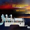 G2WY пневматическая автоматическая машина для розлива пасты горизонтальная машина для розлива с двумя головками 110 В/220 В 500 Вт 0.6MPA 500-2500 мл Гор...