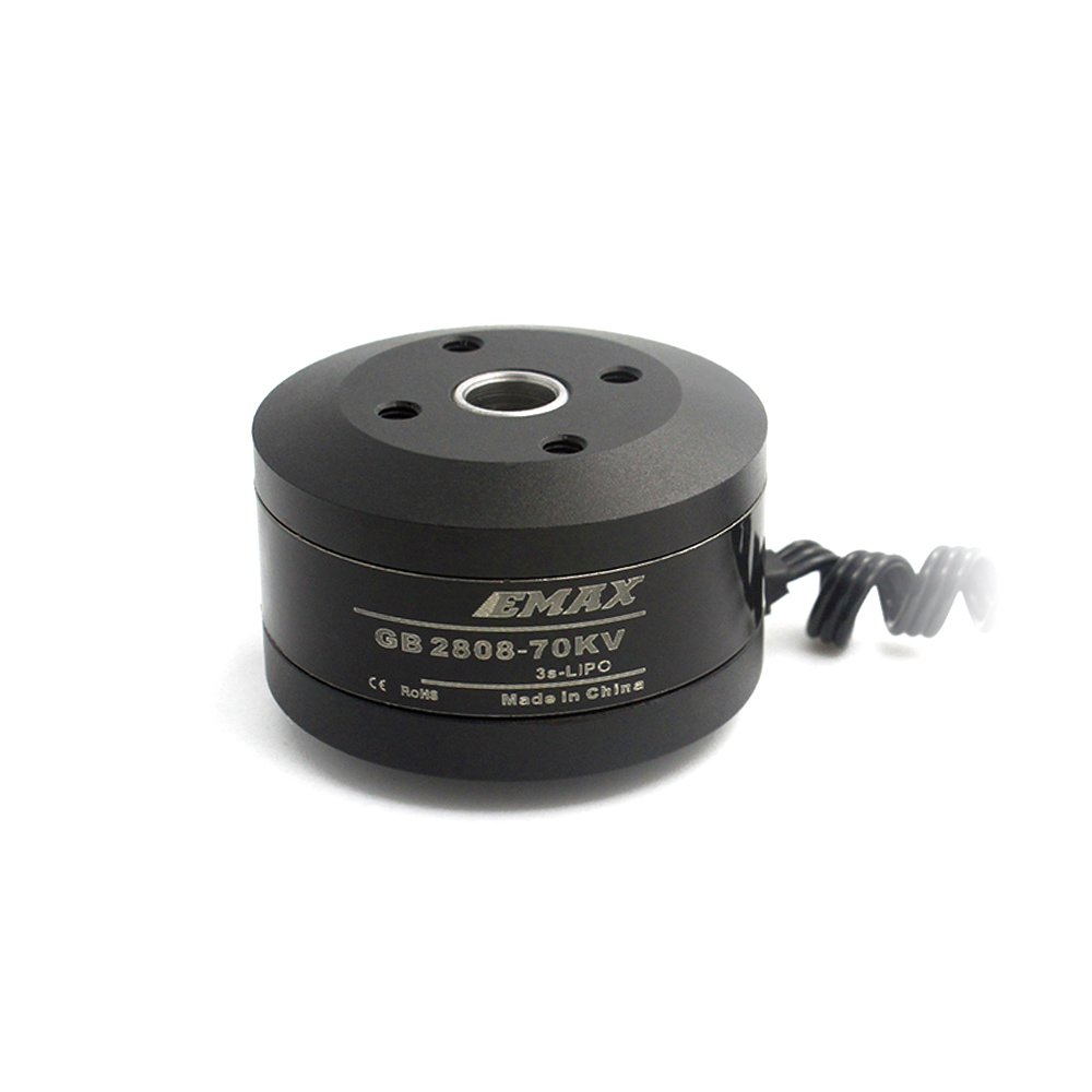 Official Emax <font><b>Brushless</b></font> <font><b>Motor</b></font> EMAX GB2808 <font><b>Brushless</b></font> Gimbal <font><b>Motor</b></font> Hollow Shaft <font><b>70KV</b></font> 100T image