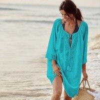 Summer Boho Dresses For Women Summer Style Sun Dress For The Beach Women Beach Wear Dress Pareo Beachwear Vestidos Verano 2018