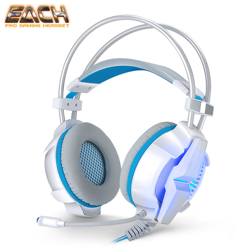 KOTION EACH G7000 Headphone For Computer Gamer Headset PC USB 7.1 Virtual Surround Sound Gaming Headset Lights Earphones Gaming teamyo n2 computer stereo gaming headphones earphones for mobile phone ps4 xbox pc gamer headphone with mic headset earbuds