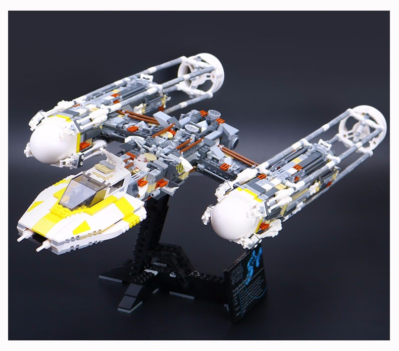 Lepin 05040 Y Attack Starfighter Wing Building Block Assembled brick Star Series War Toys Compatible with 10134 Educational Gift lepin 05040 star series y toy wing set attack fighter educational building block assembled brick compatible with war toys 10134