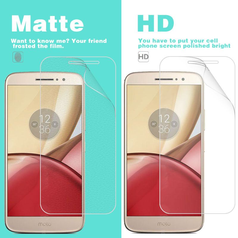 <font><b>LCD</b></font> HD Clear Glossy Film Cover For Moto M <font><b>XT1662</b></font> 5.5 in Matte Film of Anti-Glare Anti-Fingerprint With Cleaning Tools image