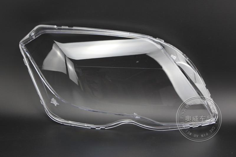 For 13-15 Mercedes Benz GLK200 GLK260 GLK300 Lampshade Headlmp Shell Headlight Transparent Mask Cover Lens 2PCS
