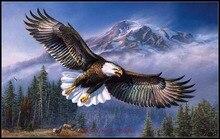 מלאכות רקמת רקמה ערכות תפר צלב נספר 14 ct DMC אמנויות DIY עבודת יד דקור Eagle בטיסה