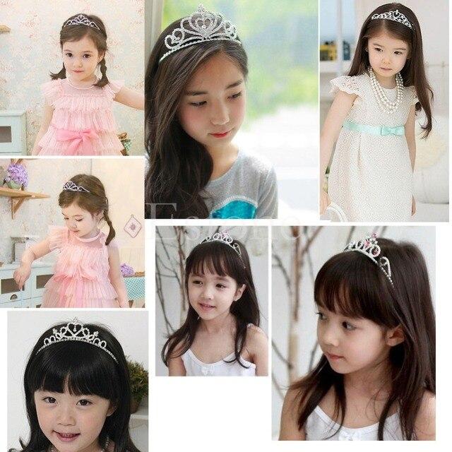 New 1PC Girl Bridal Princess Wedding Hair Accessories Crystal Rhinestone Crown Headband Stunning Crystal Tiara Wedding Crown