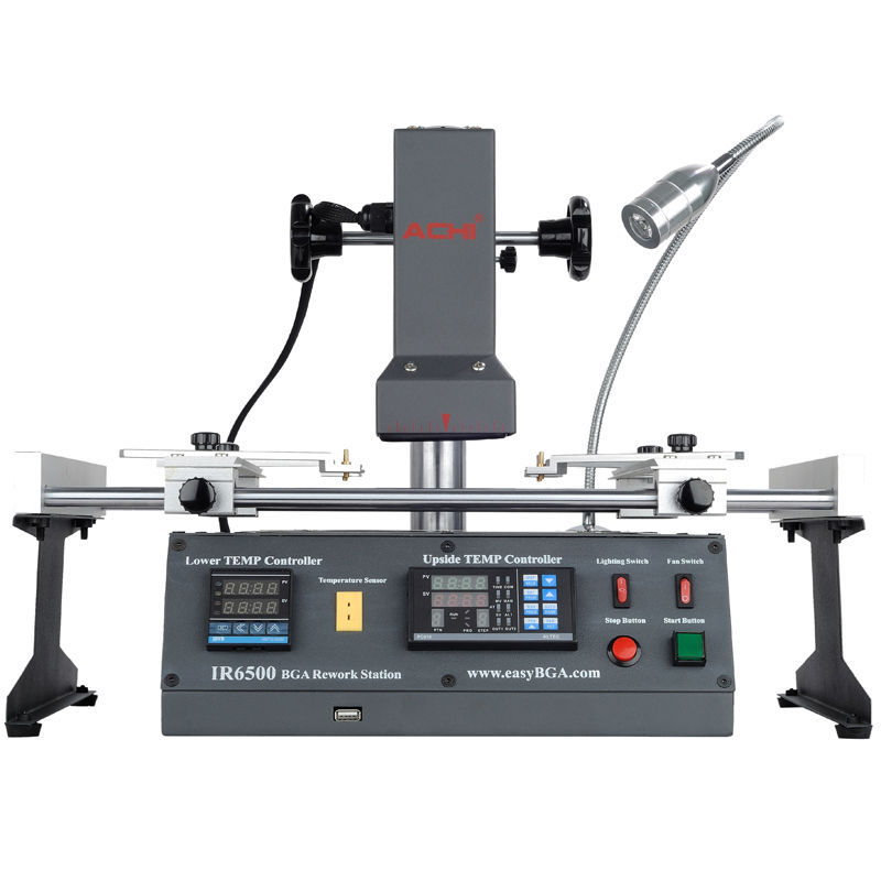 Russia Tax-free Original ACHI IR6500 V.2 Infrared BGA Rework Station Soldering Machine achi ir pro sc infrared bga soldering rework station for motherboard chip pcb refurbished repair machine