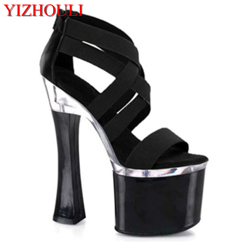 Classic 18CM Sexy Gladiator Super High Heel Platforms Pole Dance/Performance/Star/Model Shoes, Wedding Shoes 15cm sexy super high heel platforms pole dance performance star model shoes wedding shoes crystal shoes