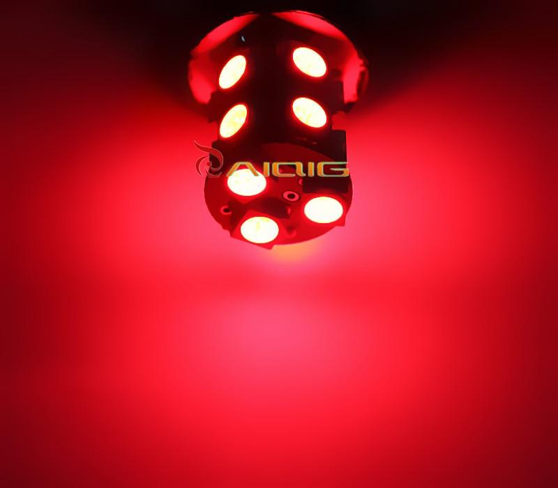 3156 3157 piros, fehér, borostyán sárga, 13 SMD 5050 LED-es - Autó világítás - Fénykép 6
