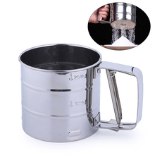 Handheld Stainless Steel Mesh Flour Sifter Kitchen Flour Sieve Mugs for Coffee Icing Sugar Powder DIY Baking Pastry Tools 1pc coffee powder sieve multifunctional stainless steel flour sieve filter cup dustproof coffee grinder accessory for barista