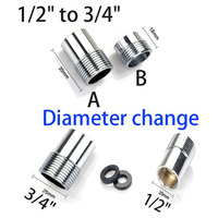 2 Units 1 2 To 3 4 Diameter Change Water Pipe Connector 20mm 25mm DN15 To
