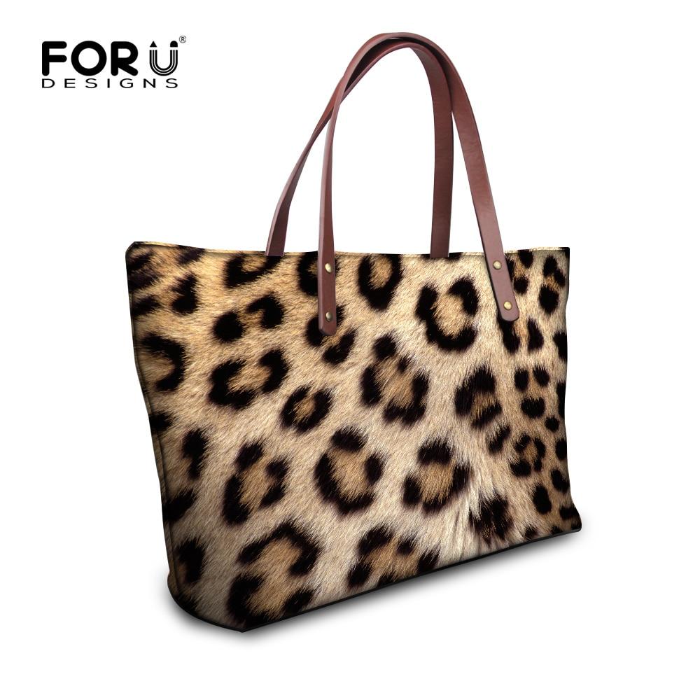 Forudesigns Leopard Print Designer Women Tote Bag New Leisure Large Top Handle Bags Las Casual Cross Body Shoulder Handbag In From