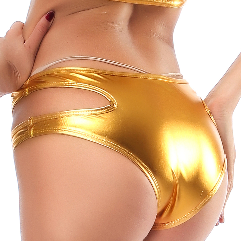 Candy Color PU Patent Leather Hot   Short   Women Hollow Out Boxer Glitter Pole Dance Booty   Shorts   Sexy Panties Tangas Bragas   Short
