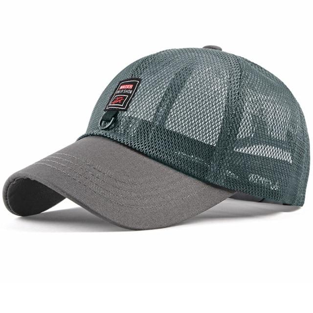 4c3f5e32 HT2217 Men Women Cap Spring Summer Breathable Baseball Cap Unisex Solid  Adjustable Trucker Mesh Cap Casual Baseball Sun Hat Cap