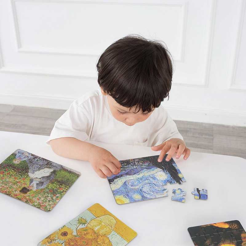 24pcs Jigsaw Picture Puzzles Van Gogh World Masterpiece IQ Puzzle Educational Toys Adults Antistress Children Kids Games Puzzles