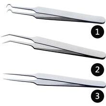 1 sztuk profesjonalne pincety 3 wzory do Nail Art/pielęgnacja twarzy/przedłużanie rzęs zaskórnika trądzik pryszcz usuń narzędzia CH213