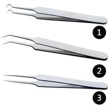 1PCS Professional แหนบ 3 แบบสำหรับเล็บ/Face Care/Eyelash Extension สิวสิวสิวสิวสิวเสี้ยนลบเครื่องมือ CH213