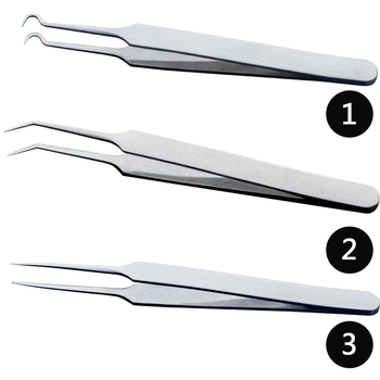 1PCS Professional Tweezers 3 Designs for Nail Art/Face Care/Eyelash Extension Blackhead Acne Blemish Pimple Remove Tools CH213