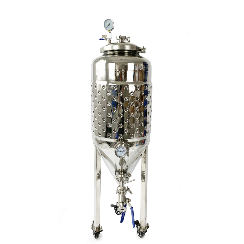 55L Double Wall  2 Bar Brew Conical Beer Fermentation Tanks Micro Brewery Fermentation Tank. Wine Fermenter Stainless Steel 304