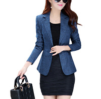 Blazer Feminino Manga Longa Real Hot Sale Vadim Flying Roc 2019 Woman Slim Blazer Casual Women Feminino Office Lady Jacket Suit