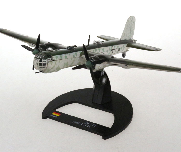 Rare  Special Offer  1:144  1942 German Army  HE177 Bomber Model  Alloy Model Finished Products  Collection Model