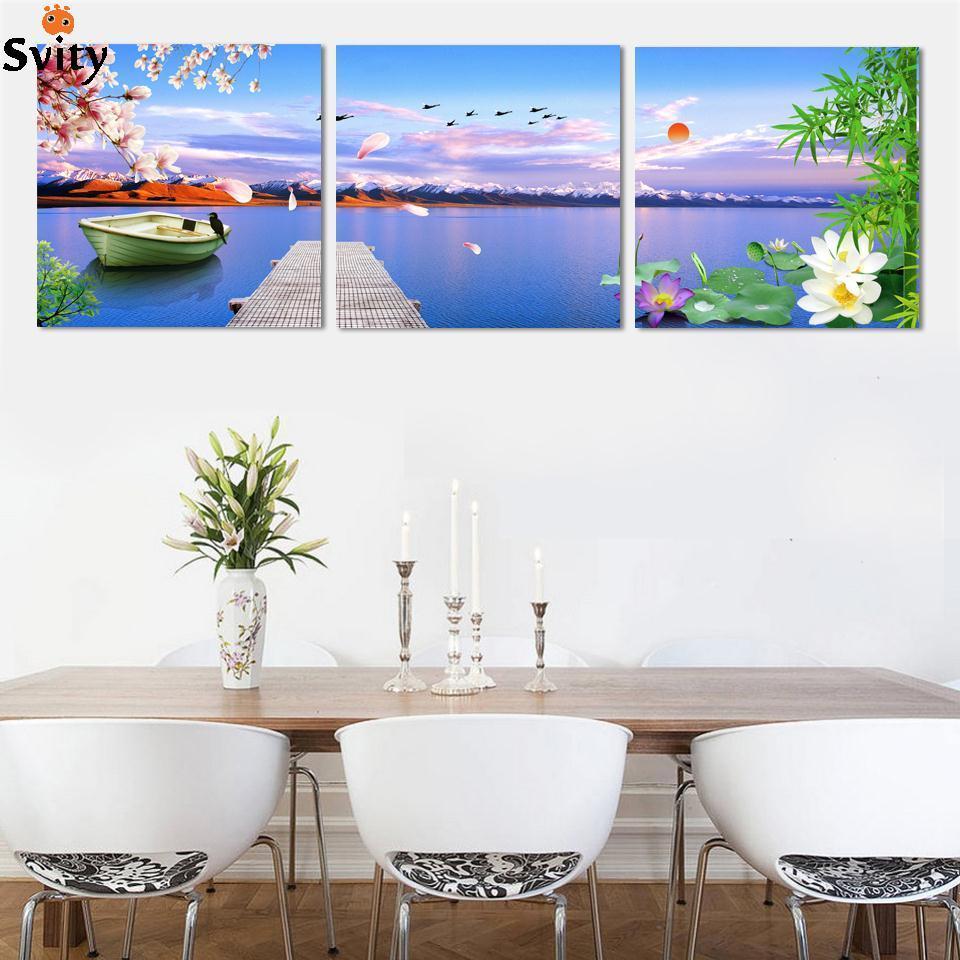 Aliexpress Com Buy 3 Piece Canvas Art Home Decoration: Aliexpress.com : Buy Canvas Painting Chinese Painting