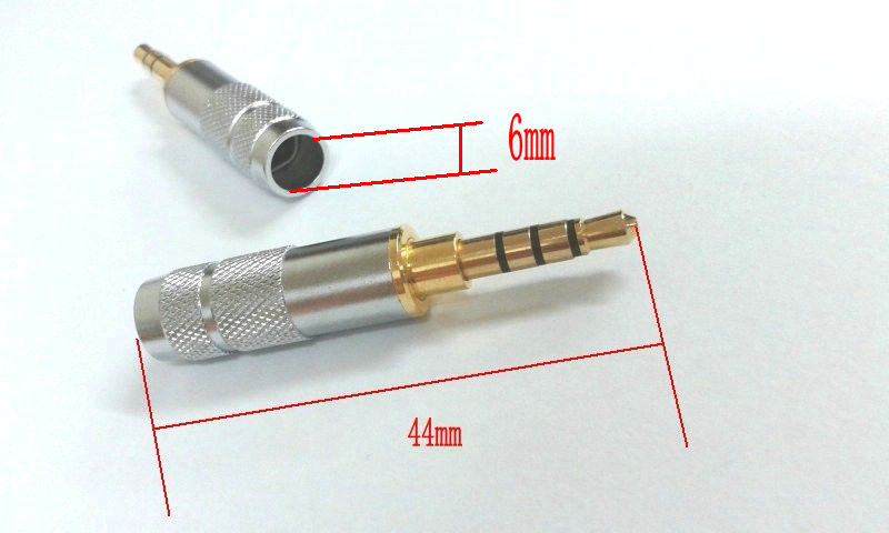 10pcs 3.5mm  4 Pole Repair Headphone Jack Plug Cable Audio Solder adapter
