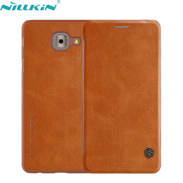 huge selection of 9ec4c 15225 US $12.36 |For Samsung Galaxy J7 Max Cover 5.7'' J7max Retro Leather Case  NILLKIN Quality Hard PC Back Cover Flip Mobile Phone Cases-in Flip Cases ...