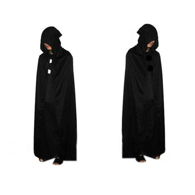f66b5abd39 1pc Halloween God of Death Cloak Hooded Cape Witch Adult Devil Robe Floor  Length Cosplay Party Supplies Wholesale P10