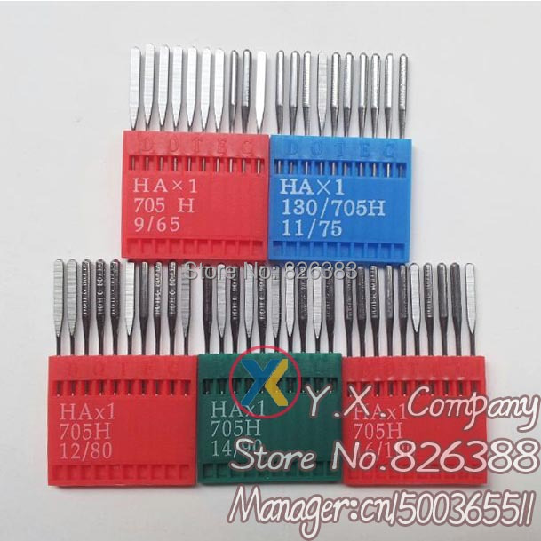 50 PCS Domestic Sewing Machine Needles HA*1 For Singer Brother Janome Toyota also fit old sewing macine  No.9,12,14,16,18