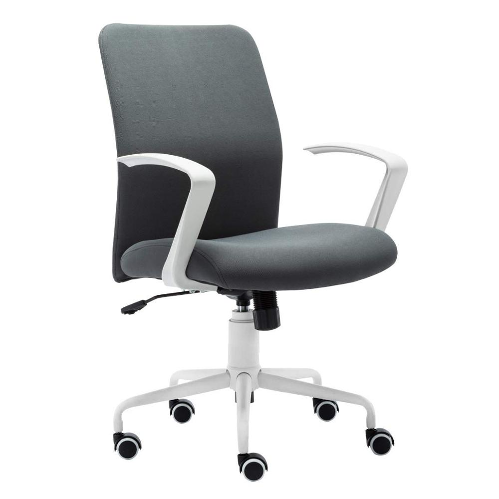 Executive Fabric Office Chair 360° Swivel Computer Desk Chair Modern Design Armrests Height Adjustable WCG DE