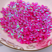 Fashion 500pcs 12mm cup six petals flower Fuschia sequins Jewelry Accessories cloth crafts confetti clothing