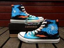 Original Converse Sneakers Men Women Brand Designer Style Galaxy Nebular Hand Painted Canvas Shoes Chuck Taylor