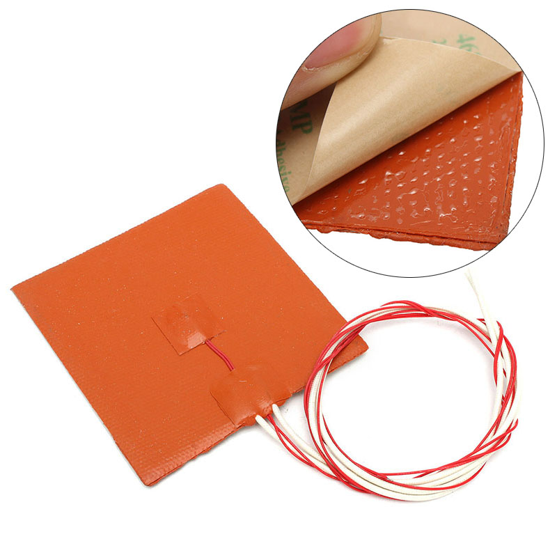 DWZ 12x12cm Silicone 120W 12V Heater Pad Heating Mat For 3D Printer Heated Bed 150x150mm 150w 12v silicone heater pad for 3d printer heated bed 3m psa ntc100k silicone heating element pad mat flexible heater