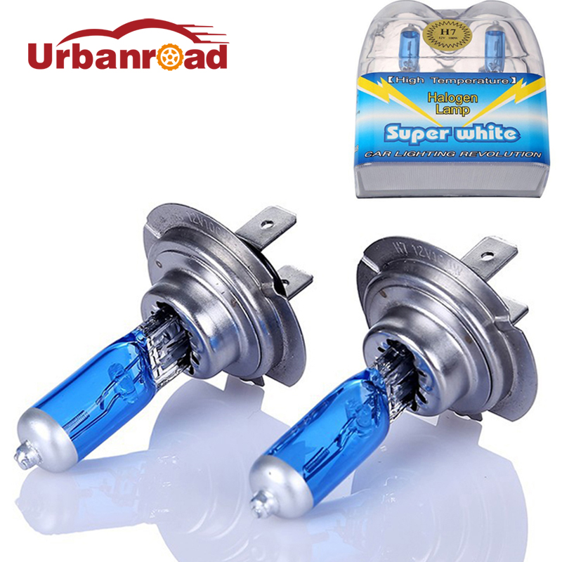2PCS 12V H7 halogen 6000k white 100w headlights H7 100W fog halogen bulb car Light Source Bulbs Headlights Auto Lamp Parking 2pcs h7 55w 12v halogen bulb super xenon white fog lights high power car headlight lamp car light source parking 6000k auto