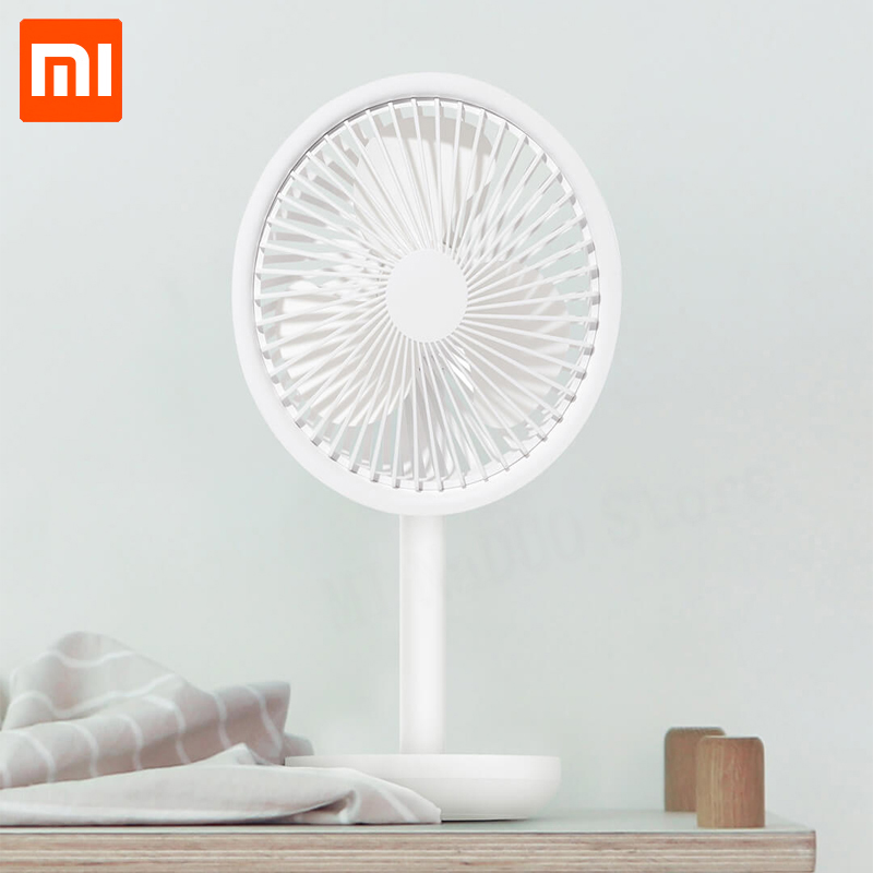 Xiaomi SOLOVE Desktop Fan 60 Degree Shaking Head Height ,Wind Speed Adjustable 4000mAh Type C Chargeable Light Portable Fan Home-in Smart Remote Control from Consumer Electronics    1