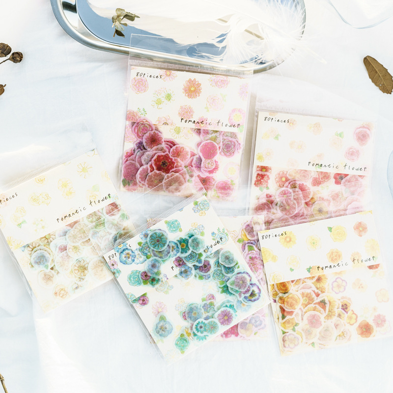 Fantastic Romantic Flowers Stickers Diary Sticker Scrapbook Decoration Stationery Stickers