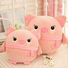 Lovely Pink Pig Short Plush Toy Doll Soft Stuffed Animal Pillow Girls Birthday Gift