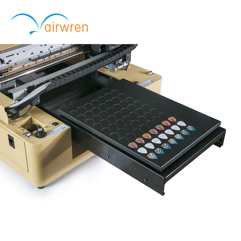 New Upgrade 8 Color CMYK 4W Cheaper Price A3 UV Printer For Guitar Pick Printing Machine
