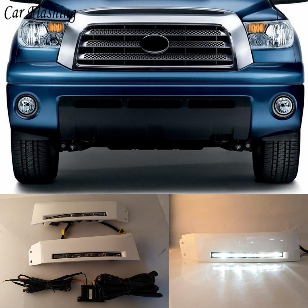 2pcs Car 12V LED Daytime Running Lights DRL fog lamp For Toyota Tundra 2007 2008 2009