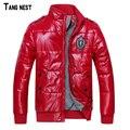 Tangnest 2017 dos homens venda quente casaco de inverno de moda jaqueta casaco de inverno quente acolchoado jaqueta masculina whole sale mwm246