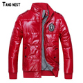 Tangnest 2017 venta caliente chaqueta de los hombres abrigo de invierno abrigo de invierno caliente acolchada chaqueta de moda masculina venta entera mwm246